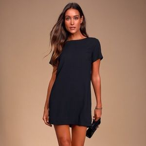 Lulu's black shift dress